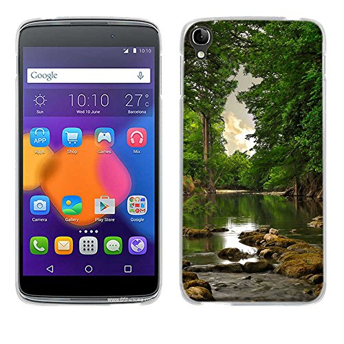 One Touch Idol 3(5.5 inch) Hülle Case,Fubaoda[Ruhiger See]Ultra-Clear Alcatel One Touch Idol 3(5.5 inch) Case Silikon Soft TPU Premium Handyhülle Case Slim case für Alcatel One Touch Idol 3(5.5 inch)