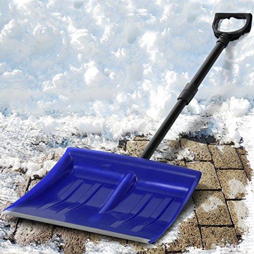 Jago Schneeschaufel Schneeräumer einzeln oder im zweier Set mit Farbwahl inkl. Stiel aus Stahlrohr - 2