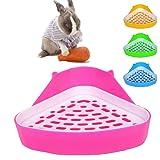 MINGZE Aseo para Mascotas, Caja de Arena de Esquina de Potty Trainer, para Ratas pequeñas, hámsters, cobayas (Colores aleator
