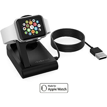 dodocool Apple Watch Magnetico Ricarica Charging Dock Pieghevole Supporto per Apple Watch 38 mm/ 42 mm 3ft Integrato USB Cavo con Modalità Comodino Resistente ai Graffi Nero