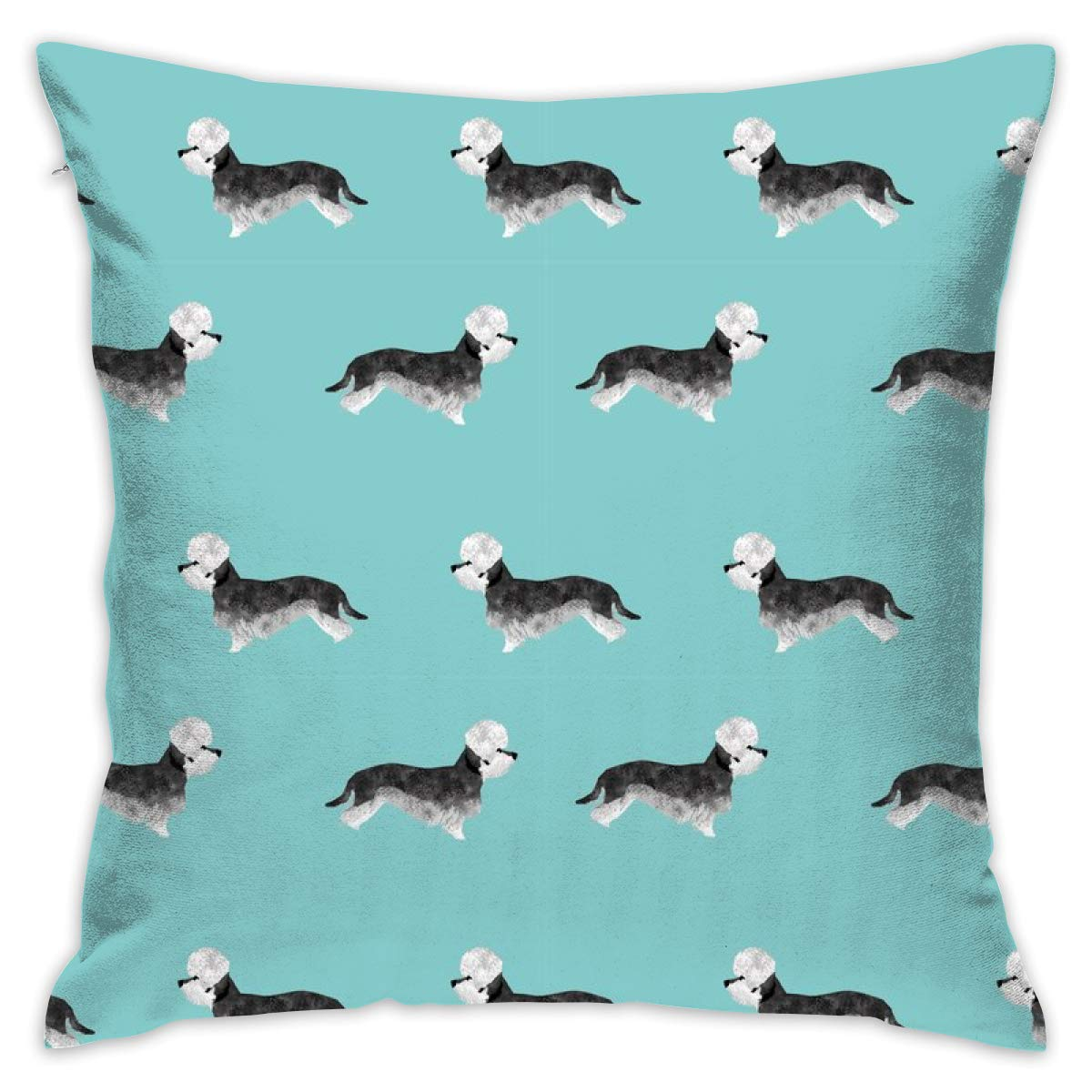 Mabell Beautifully decorated home Dandie Dinmont Terrier – Pepper Dog Coat, Dandie Dinmont Dog, Terrier Dog, Dog Breed – Blue Throw Pillow Case 18X18 Inches