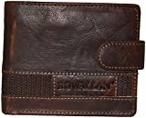 Rowallan Panama Tabbed Flip Out Wallet (Brown)- Suppliers of Fine Leather Good