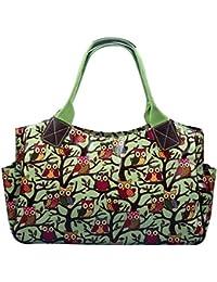 Miss Lulu femmes filles fleurs Chouette à Pois en toile cirée Motif chien Scottie Sac fourre-tout de voyage sac à main