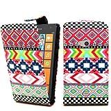 Accessory master - Funda de piel con tapa para Nokia Lumia 625, multicolor