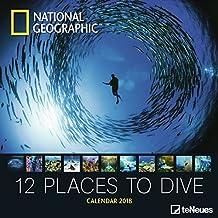 National Geographic Broschürenkalender 2018 12 places to dive - Wandkalender, Naturkalender 2018-30 x 30, geöffnet 30 x 60 cm