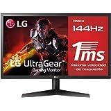 "LG 24GL600F-B - Monitor Gaming QHD de 59,8 cm (24"") con panel TN (1920 x 1080 píxeles, 16:9, 1 ms, 144Hz, FreeSync LFC, 300 c"