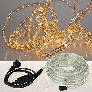 Guirlande lumineuse Noel LED 5m blanche Intérieur / Extérieur - electrique