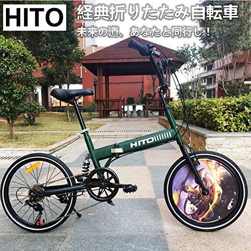 61yWBr9xKuL. SS500  - HIKING BK 20-inch Folding Bike Shock-absorbing Off-road Anti-tire Mountain Bike Male And Female Adult Lady Bike