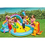 Intex Dinoland Inflatable Dinosaur Water Pool Play Center with Inflation Pump and Repair Patch