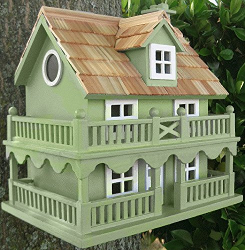 Novelty Cottage Green Birdhouse From Buttercup Farm
