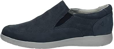 Valleverde Scarpe Uomo Sneaker Slip on in Nabuk Blu V66861-BLU