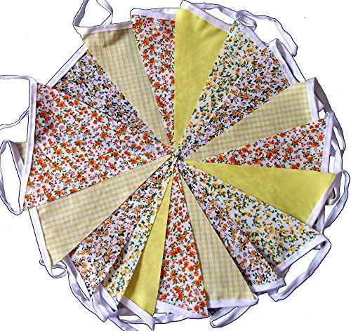 9mtrs-30-flags-yellow-sunshine-floral-mix-fabric-bunting-banner-garland