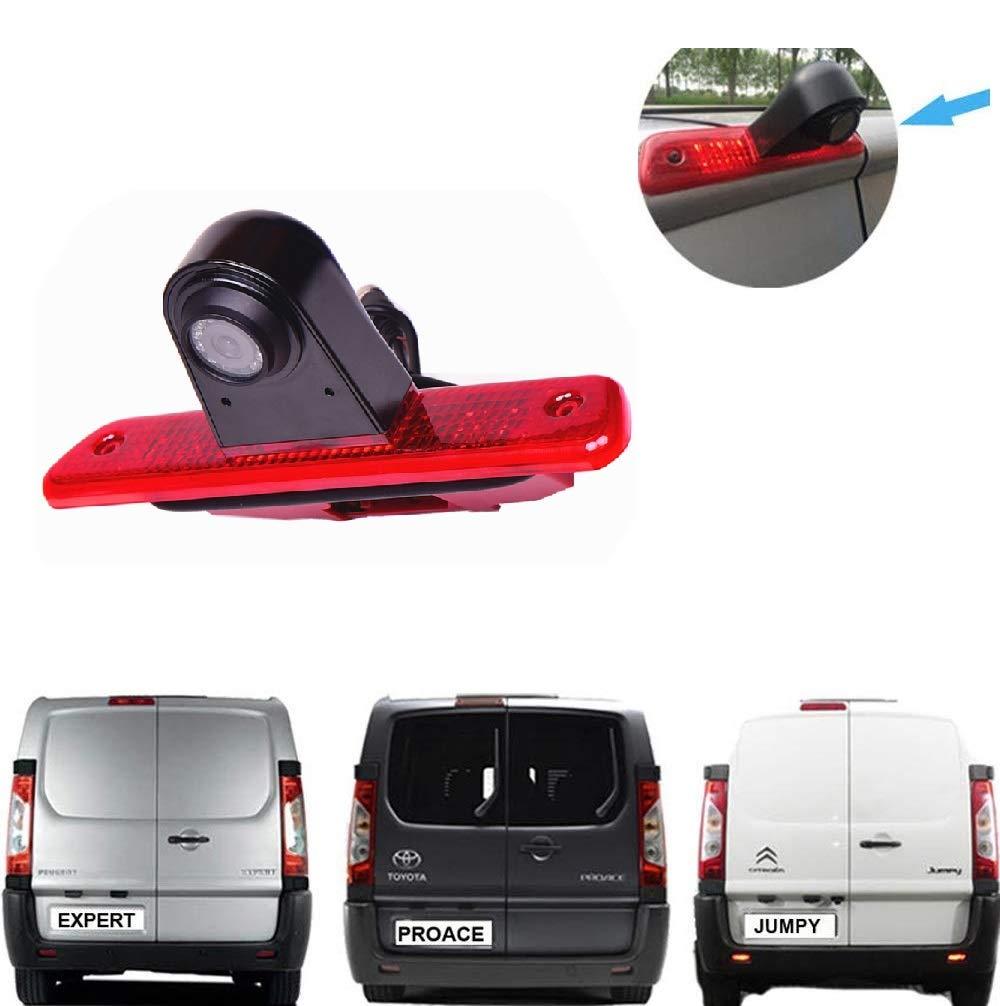 Fahrzeugspezifische-Farb-Rckfahrkamera-zum-Austausch-der-originalen-3-Bremsleuchte-an-der-Dachkante-fr-Citroen-Jumpy-Peugeot-Expert-Toyota-Proace-FIAT-Scudo-70-Zoll-Monitor-TFT-KFZ-LCD-Display