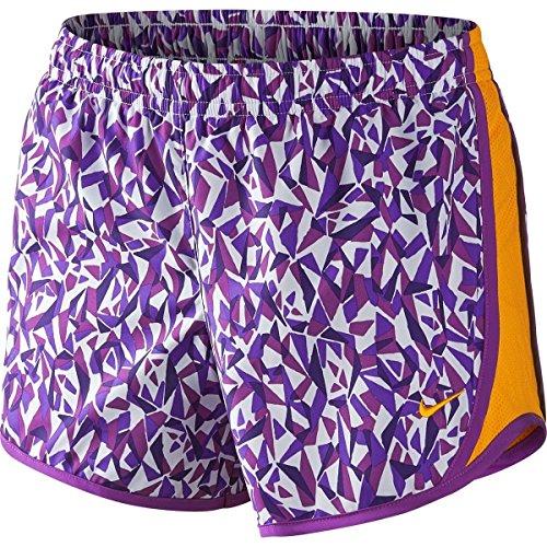 Kinder Kleidung Ausgeführt (Nike 3.5 Mädchen Tempo Running Shorts (X-Small, Weiß/Hyper Grape/Cosmic Purple/Vivid Orange))