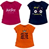 NammaBaby Hosiery Cotton Printed Girls' Cotton T-Shirt