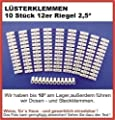 10 Lüsterklemmen 2,5 mm² transparent je 12-fach weiß PVC /230V ~ und maximal 16 A / für Haus, Gewerblich, KFZ und Hobby für Drähte / Leitungen von 0,5-2,5mm² / Standard Ausführung von Digisky - Lampenhans.de