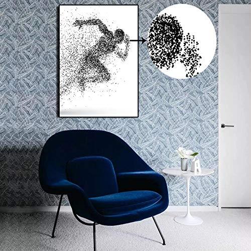 yhyxll Wanddekor Leinwand Malerei Moderne abstrakte kreative dynamische dynamische Partikel Bild Vektor-Druck auf Leinwand olympischen Sport für Wohnzimmer A 40x60cm
