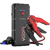 Starthilfe, 1500A Starthilfe Powerbank [3.GenerationmitQDSP], Auto-Batterie-Booster mit intelligentem kabel für alle Benzin/6.5L Dieselmotoren, Typ C-Ein/-Ausgang, DC-Ausgang, LED-Taschenlampe