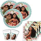 36 pièces Vaiana Kit de Fête pour 8 enfants
