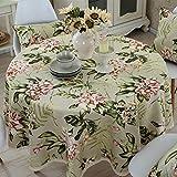 Tischdecke Runde Tuch Moderne minimalistische Gartentisch Pad wasserdicht anti-heiß Anti-Öl Baumwolle und Leinen kleine frische Kaffeetisch Pad , 003 , diameter 160cm