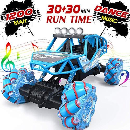 BFULL 4WD RC Auto, 1/16 Drift Master Music Buggy 2,4 GHz Fernsteuerung Hochgeschwindigkeitsrennfahrzeug geländegängiger Monstertruck für Straßen & Geländespiele, 2 wiederaufladbare Batterien