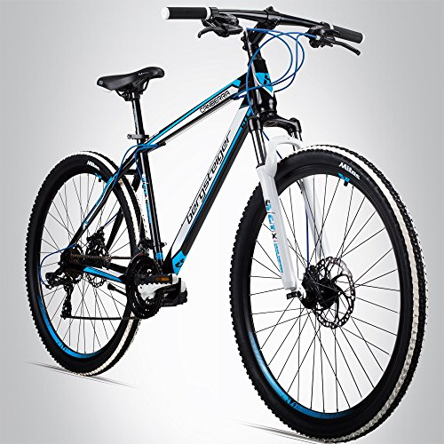 Bergsteiger Canberra 29 Zoll Mountainbike, geeignet ab 160 cm, Scheibenbremse, Shimano 21 Gang-Schaltung, Gabel-Federung, Jungen-Fahrrad & Herren-Fahrrad