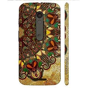 Enthopia Designer Hardshell Case Aztec Earth Back Cover for Motorola Moto X3