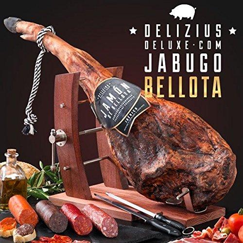 Set direkt aus Spanien Original Jabugo Serrano Schinken Würste Schinkenhalter Messer...