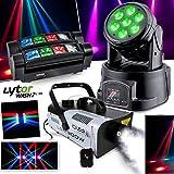 Lyra lytor wash7LEDs DMX RGB 4W + Weiß + Nebelmaschine + Spider RGBW 8x 3W Ghost