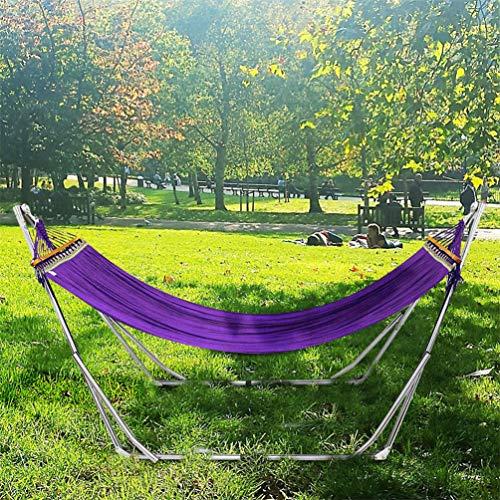 Amaca da giardino con supporto campeggio viaggio con trave in legno, capacità di carico 200 kg, (220*100*90cm), per una persona con borsa, per viaggi trekking outdoor camping garden esterno interno giardino