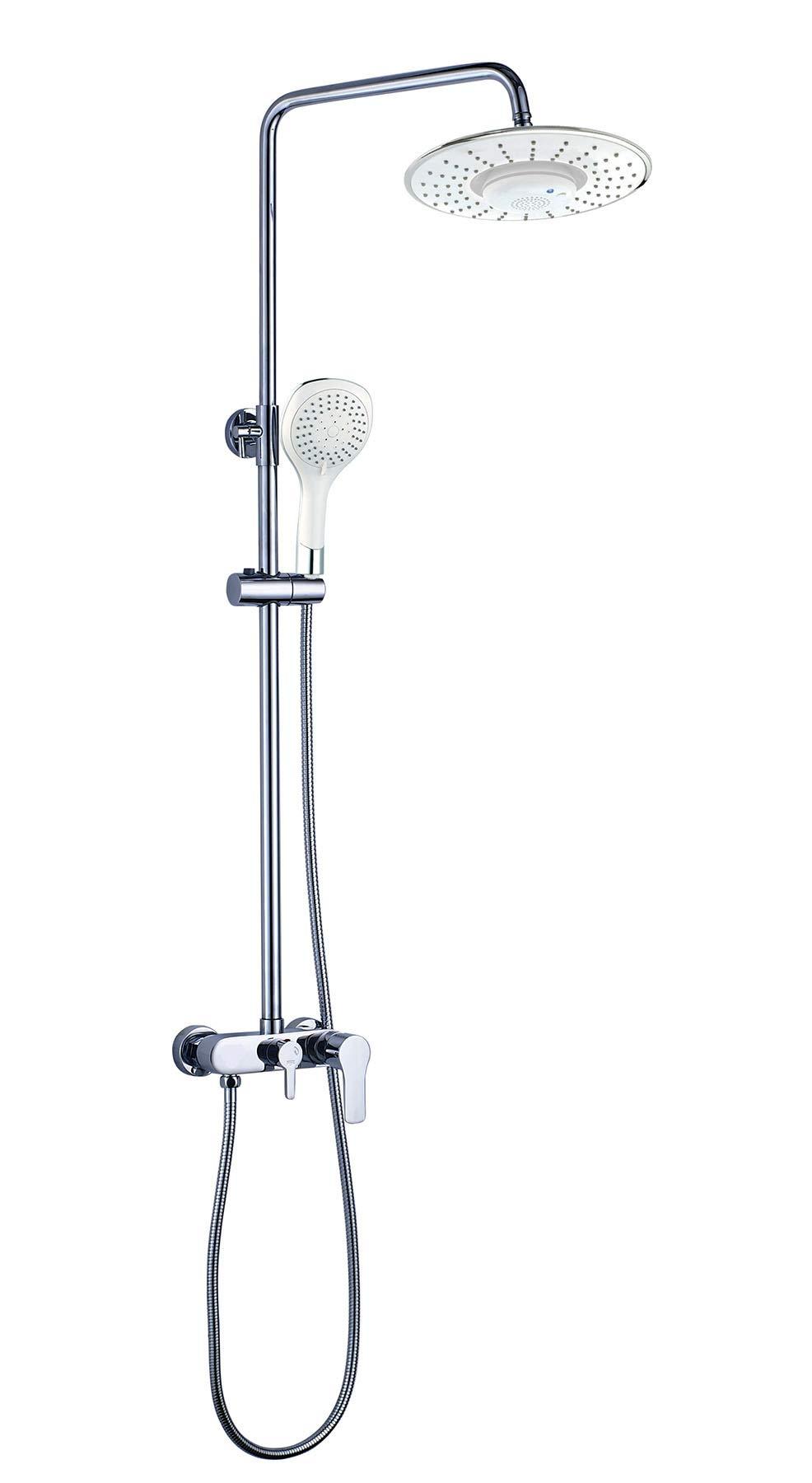 OXEN 122024 – Columna de ducha monomando (extra larga) color blanco