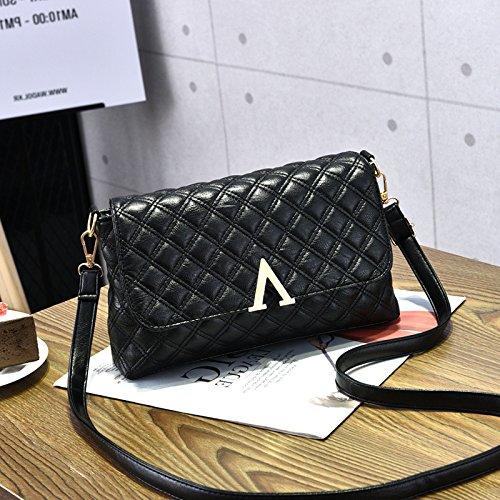Femmina CengBao nuovi pack di trasporto atmosferico selvatici coreano moderno piccolo pacchetto pelle morbida tote bag spalla un cross-pacchetto, polvere di gomma Nero
