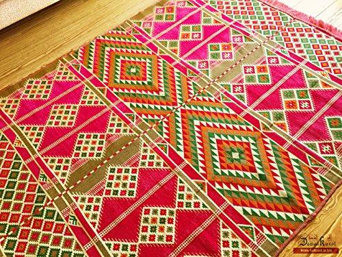 200 cm x 135 cm Alfombra Oriental, Kelim, Kilim, Carpet,Manta al Suelo ,Teppich, Rug nuevo de Damaskunst S 1-4-24