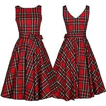 99921e8ac2862 Vintage rétro 1950 s Audrey Hepburn Jupe Taille Haute Grande Taille  Treillis Manche sans Robe de soirée