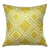 Luxbon Modern Gelb Blume Kissenbezug Lendenkissen Wurfkissen Pillowcase Cafe Haus Sofa Auto Cafe Deko 18 x 18 ''