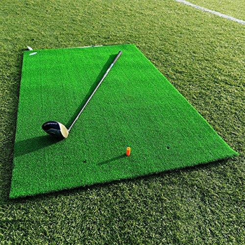 FORB Academy Golf Übungsmatte - Golfmatte zusammenrollen - Golf Tees Werden enthalten -