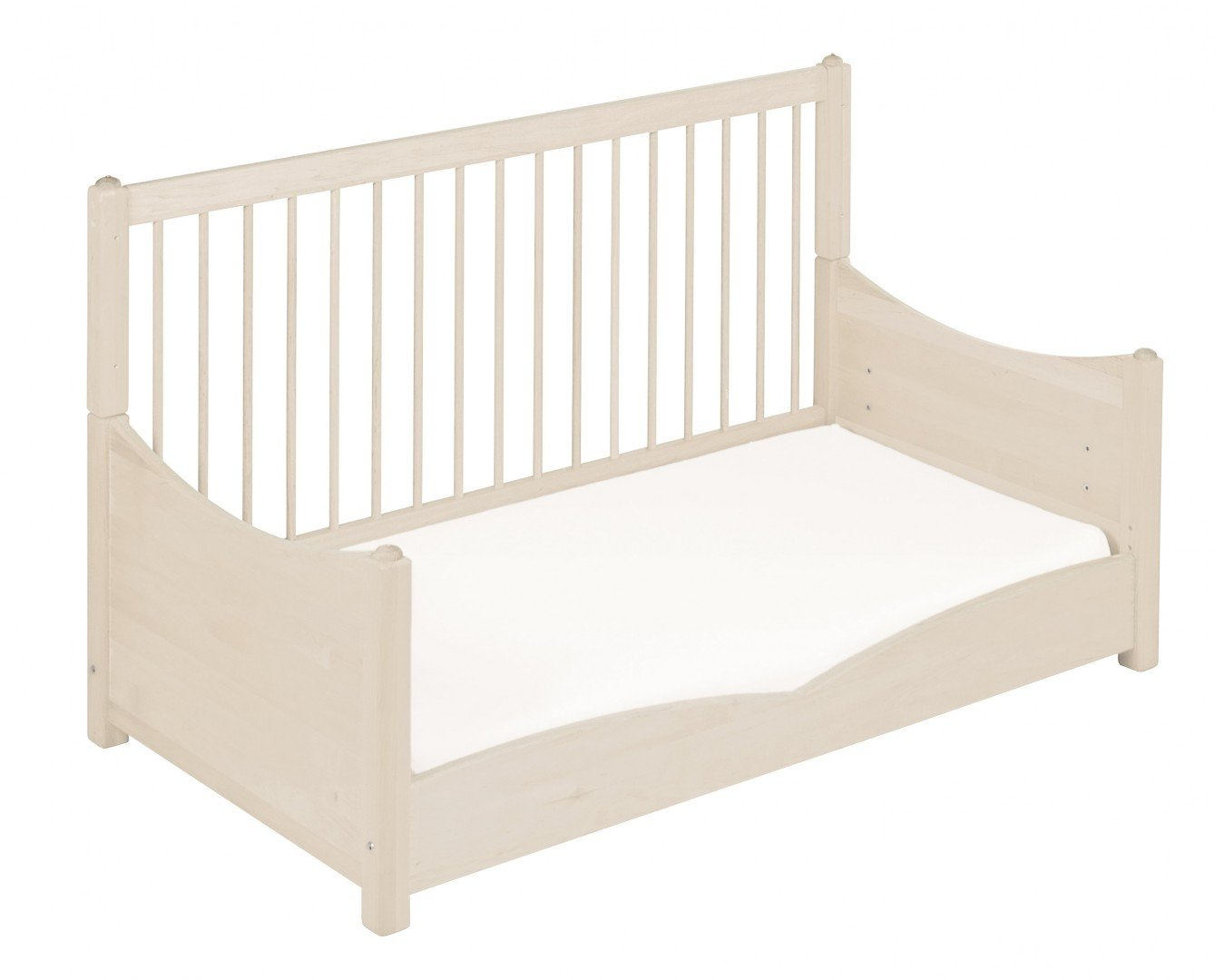 BioKinder 22128 Bed for babies and toddlers Luca from biological wood Bio-Kinder Bed Luca for Babies and Toddlers Adjustable height. 3 removable bars. Various features Sustainable solid biological wood (alder/pine). Biological finish 6