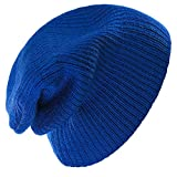 4sold Kinder Wurm Winter Style Beanie Strickmütze Mütze HAT SKI Snowboard (Royal Blue)