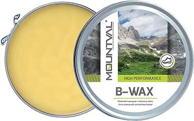 Mountval B-Wax, Cire Imperméabilisante pour Chaussures en Cuir, à Base de Cire d'Abeille Naturelle
