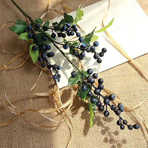 5pcs Berry de Noël Artificiel en Soie Fleur Bouquet pour Home Hôtel Bureau fête de Mariage Jardin Craft Art Décor DIY Blueberry