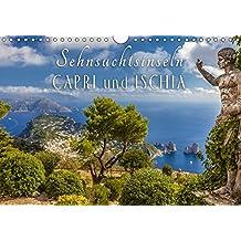 Sehnsuchtsinseln Capri und Ischia (Wandkalender 2018 DIN A4 quer): Träume vom azurblauen Meer begleiten Sie durch das Jahr (Monatskalender, 14 Seiten ... [Kalender] [Apr 08, 2017] Müringer, Christian