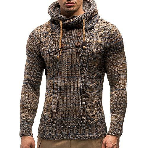 Mantel Herren,Herren Mit Kapuze Pullover Mantel Kapuzenpullover Jacke Outwear,❤️Binggong Herren Mantel