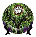 Jikraa Ceramic Madhubani Print Rare Handcrafted Plate-Platter Multicolor
