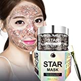 Charmss Star Mask,Deep Cleansing Removal Blackhead mask,Peel Off Anti-aging Face Mask, Clean Face Hydrating Skin Firming Gel Clay, Exquisite Care of The Face + Mask brush (100g)