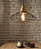 OWO Moderne, einfache Nordic kreative Eisenstange retro Retikulären Pendelleuchten Für Flur, Wohnzimmer, Esszimmer, Lager, Küche, Schlafzimmer, Halle, Eingang