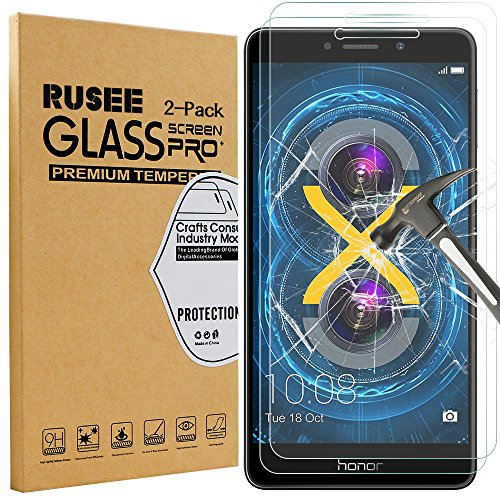 [2 Pack] Honor 6X Screen Protector, Rusee Huawei Honor 6X Tempered Glass [High Definition][Bubble Free][9H Hardness] Screen Protector Film Guard Cover for Huawei Honor 6X Test