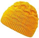 4sold Wave para Mujer Gorro de Lana Gorro Tejido Forro Gorro de Invierno Gorro de esquí y Snowboard Sombreros (Yellow)