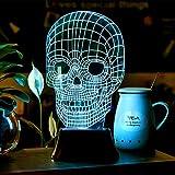 HOMPO Amazing LED 3D Skull Illusion Light Illuminated Desk Lamp Night Light