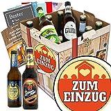 Zum Einzug | Bier Set | Biere aus Deutschland | Zum Einzug | Biergeschenke für Männer | GRATIS Bier Buch, Geschenk Karten und Bier Bewertungsbogen