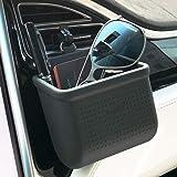 Auto Air Vent Opbergtas Organizer Pocket Zonnebril Houder Auto Mount Telefoonhouder Coin Key Card Case Organizer met Haak- Zw